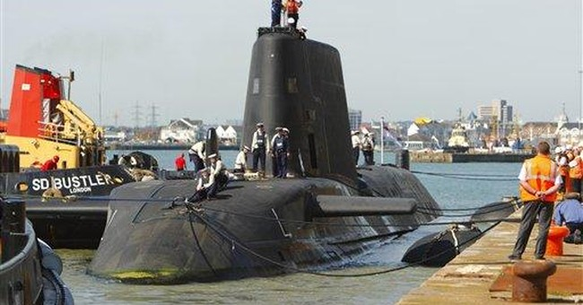 1 dead after shooting aboard UK nuclear sub