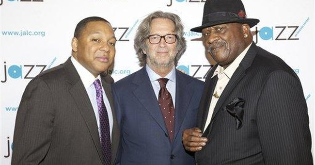 Eric Clapton jams in jazz set with Wynton Marsalis