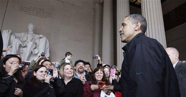 Obama at Lincoln Memorial, open after budget deal