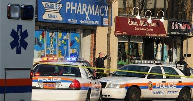 NY pharmacy shooting a question of who fired gun