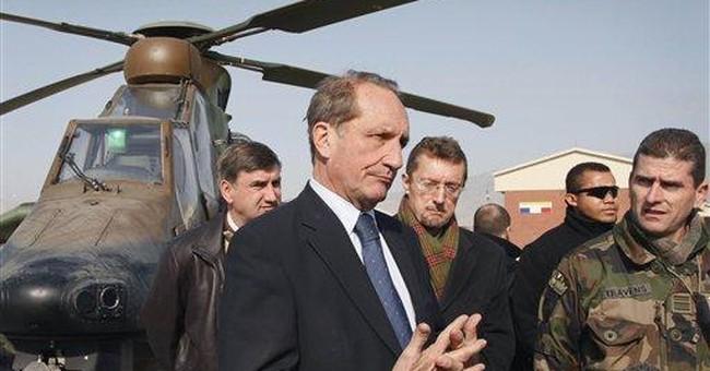 French defense minister backs Taliban talks