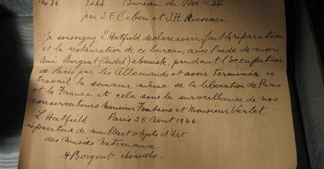 Letter discovered in Louis XV desk at Versailles