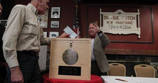In Dixville Notch, it's a Romney-Huntsman tie