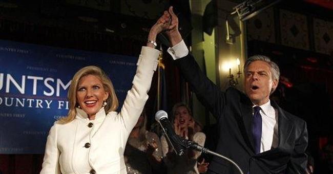 In SC, Huntsman defends Romney's record at Bain