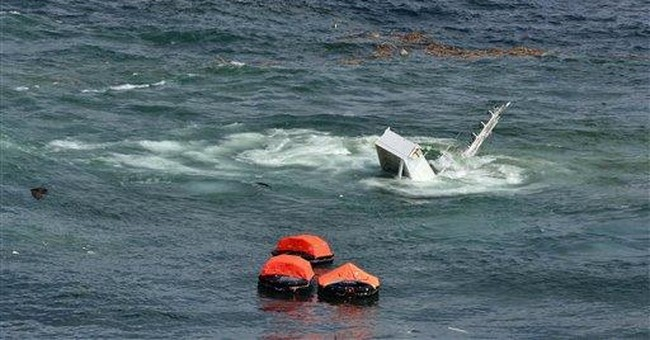 Half of wrecked cargo ship sinking in New Zealand