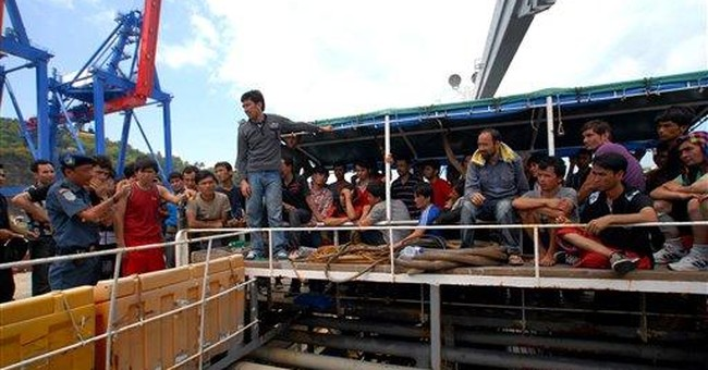 Indonesia saves 120 Afghans from leaking ship