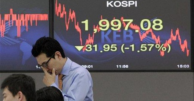 Asian stock markets fall after US hiring slows