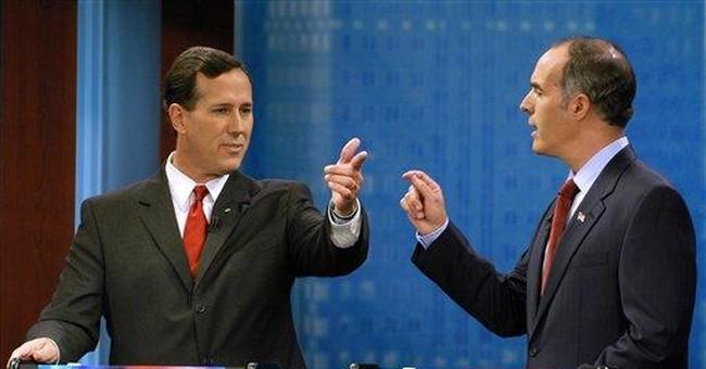 SPIN METER: Santorum looks moderate in 2006 flier