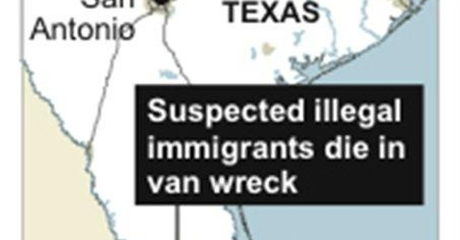 9 suspected illegal immigrants die in Texas wreck