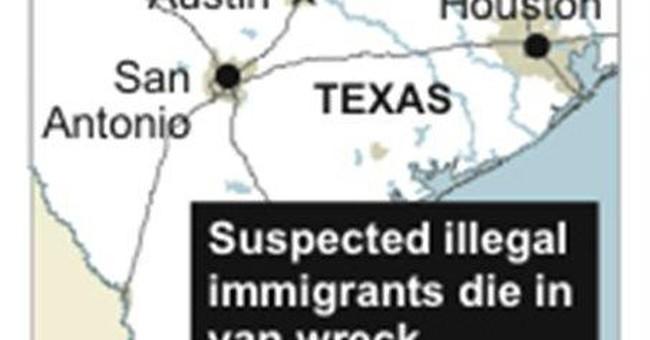 9 suspected illegal immigrants die in Texas wreck