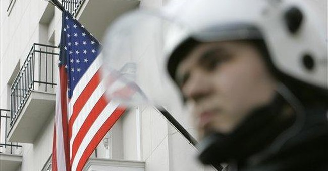 Serb police arrest 9 suspects in US Embassy fire