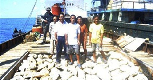 3 of 8 Chinese fishing boats leave disputed shoal