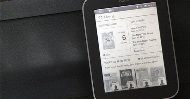 Barnes & Noble lights up e-reader screen