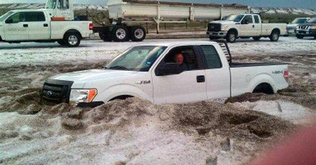 Storm dumps waist-high hail in Texas Panhandle