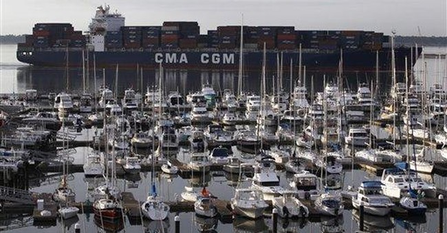 US trade deficit fell in February to $46 billion
