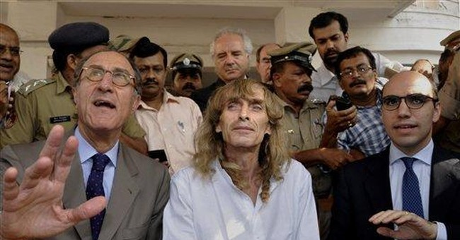 Italian man held by rebels in India lost 10 kilos
