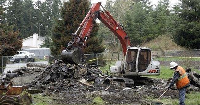 Wash. home of missing woman's husband demolished