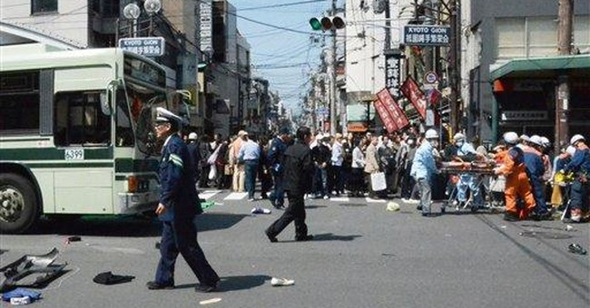 Minivan rams into pedestrians in Japan; 8 killed
