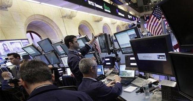 Stocks fall on higher European borrowing costs