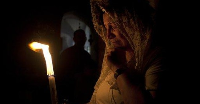 Pilgrims gather in Jerusalem for fire ritual