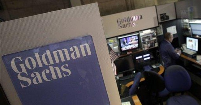 Goldman Sachs' profits mask revenue decline