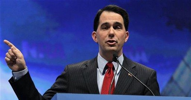 Wisconsin governor greeted as Republican rock star
