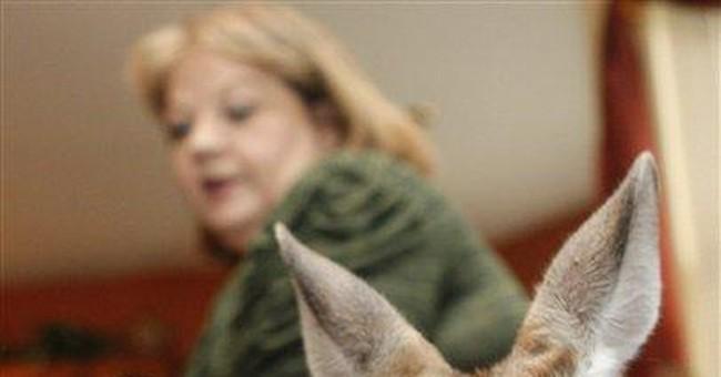Okla. woman, pet kangaroo moving over city spat