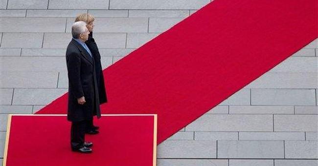 Monti backs French, German push for financial tax