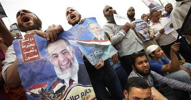 Egypt demonstrators block main Cairo bridge