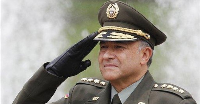 Head of Colombian police steps down