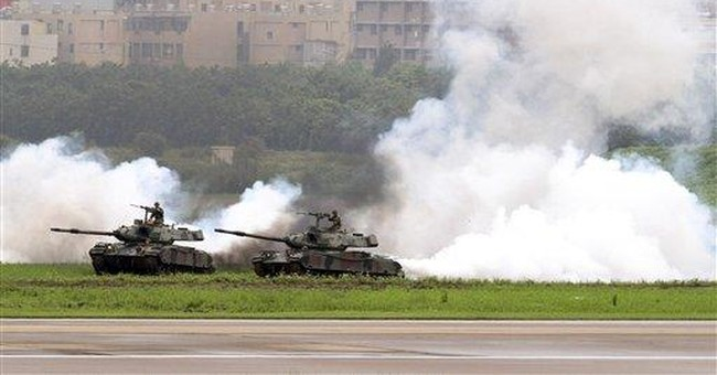 Taiwan stages military exercises aimed at China
