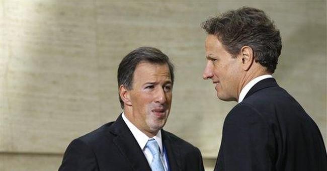 Geithner urges creativity in Europe's debt crisis