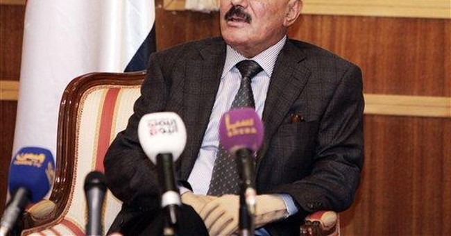 Yemen's ousted leader blasts Arab Spring revolts