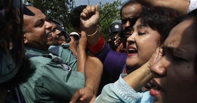 Bangladeshi police clash with striking protesters