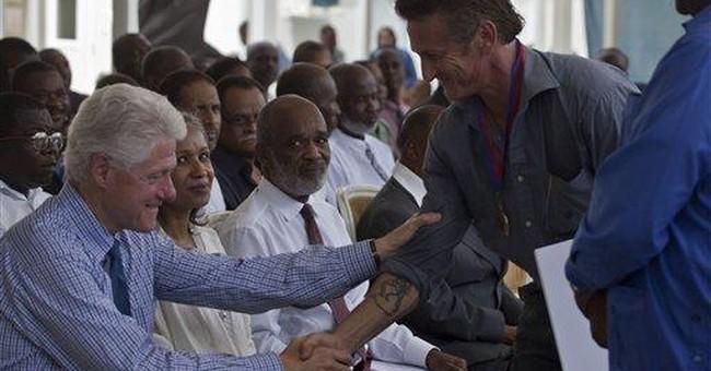 Actor Sean Penn receives award for work in Haiti