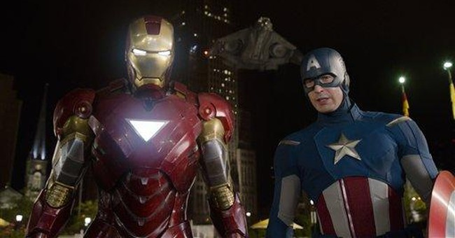 Evans feels the power of superheroes in `Avengers'