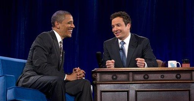 Obama, on the Fallon show, slow jams the news