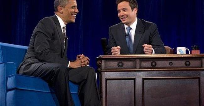 Obama, on the Fallon show, slow jams the news