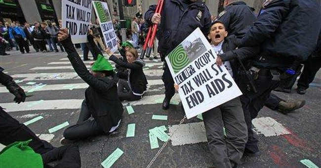 Chained AIDS protesters arrested in Wall St. area