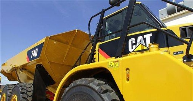 Caterpillar 1Q profit jumps 29 pct, boosts outlook
