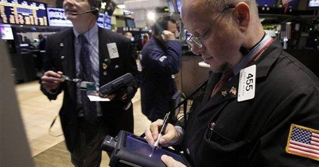 Dow regains ground it lost in April; Amazon surges