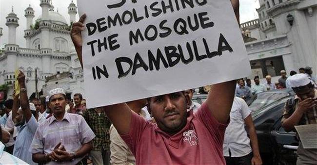 Sri Lankan Muslims protest demolition of mosque