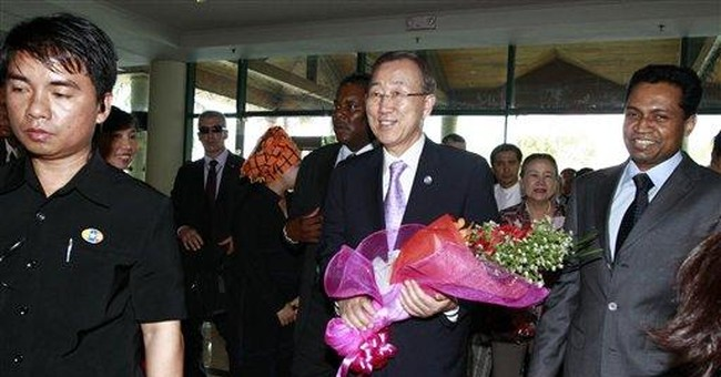 UN chief Ban arrives in Myanmar to promote reforms