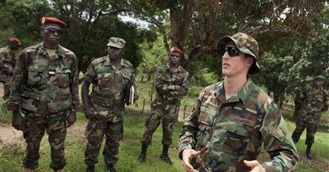 US special forces help in hunt for warlord Kony