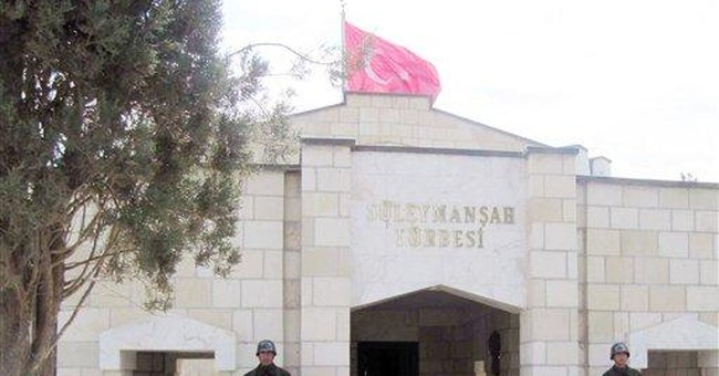 Turkish soldiers guard sacred tomb in Syria