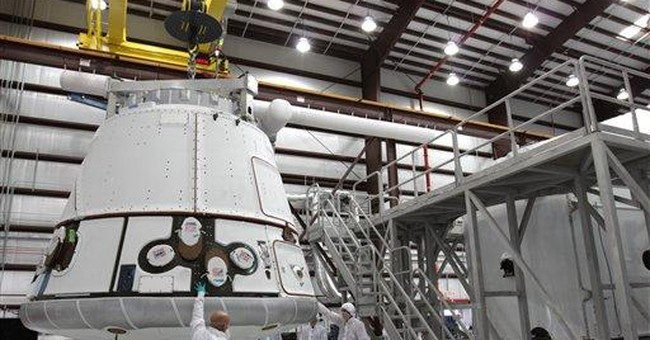 1st private cargo run to space station delayed