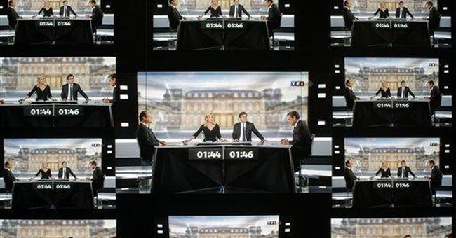 French debate: No knockout punch from Sarkozy