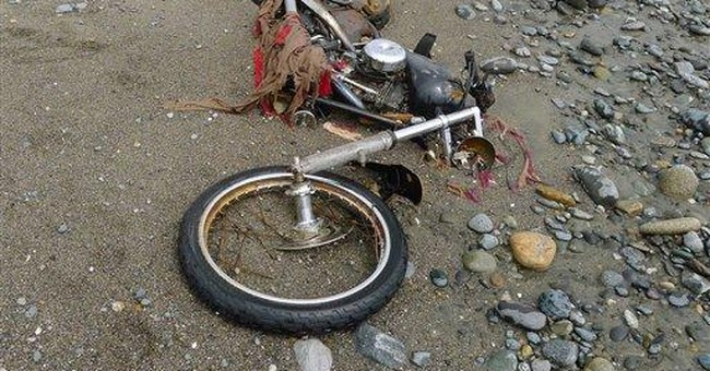 Tsunami-swept Harley in container found in Canada