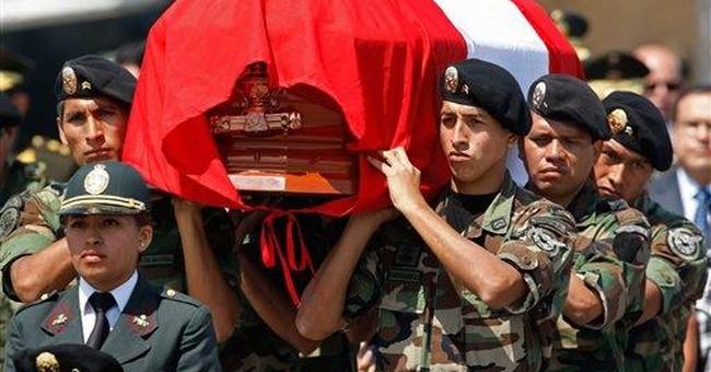 Father retrieves policeman son's body in Peru