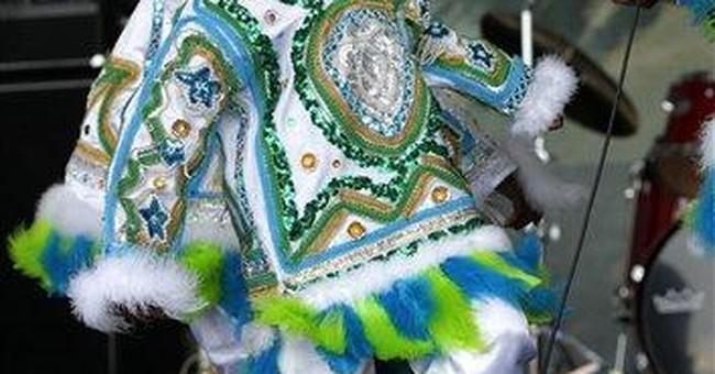 Mardi Gras Indians on display at Jazz Fest